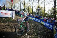 Sophie de Boer (NLD) leading<br /> <br /> Koppenbergcross 2014