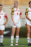 20 September 2012: Maryland's Ashley Spivey. The University of Maryland Terrapins played the Duke University Blue Devils to a 2-2 tie after overtime at Koskinen Stadium in Durham, North Carolina in a 2012 NCAA Division I Women's Soccer game.