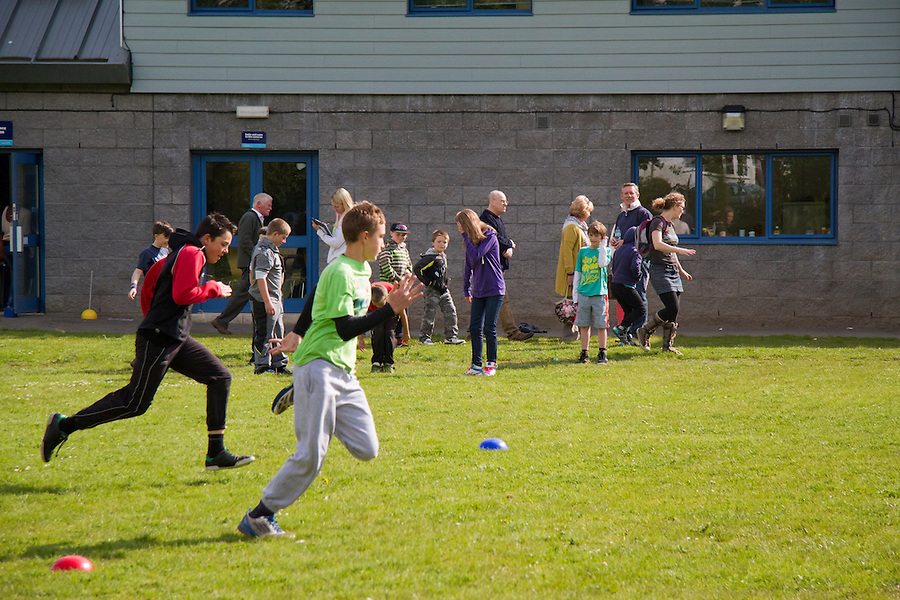 A mini-Olympic Games held at the Draceana Centre for children ahead of the Olympic Torch coming through Falmouth.