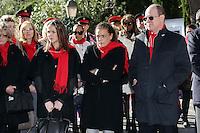 Prince Albert II of Monaco, Princess Stephanie & daughter Pauline Ducruet - Operation FightAids