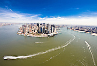 View of Manhattan and Brooklyn near Governor's Island.