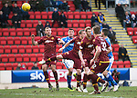 St Johnstone v Motherwell&hellip;20.02.16   SPFL   McDiarmid Park, Perth<br />Tam Scobbie scores the winning goal<br />Picture by Graeme Hart.<br />Copyright Perthshire Picture Agency<br />Tel: 01738 623350  Mobile: 07990 594431