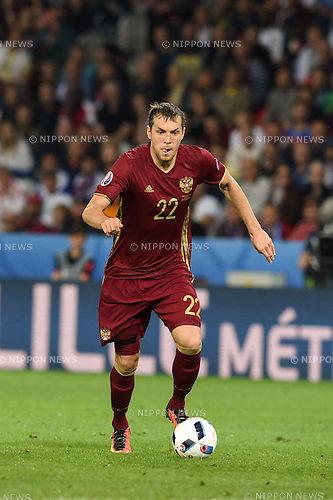 Artem Dzyuba (Russia) ; <br /> June 15, 2016 - Football : Uefa Euro France 2016, Group B, Russia 1-2 Slovakia at Stade Pierre Mauroy, Lille Metropole, France.; ;(Photo by aicfoto/AFLO)