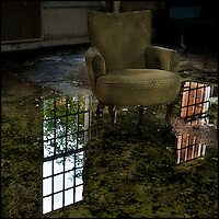 Armchair in a flooded ward