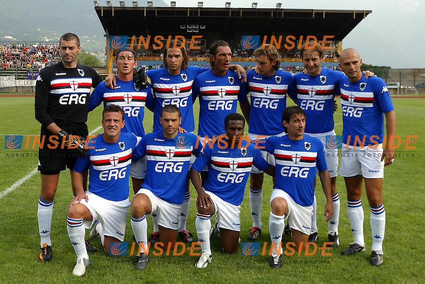Trento 4/8/2004 Amichevole - Friendly match Fiorentina Sampdoria 3-2 <br /> <br /> Nella foto: <br /> Sampdoria<br /> Photo Jay / Insidefoto