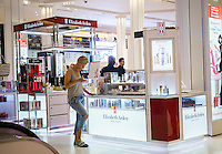 The Elizabeth Arden boutique within Macy's department store in Herald Square in New York on Friday, June 17, 2016. Revlon announced that it is buy rival Elizabeth Arden in an $870 million deal. The combined companies will have sales in the $3 billion range. (© Richard B. Levine)