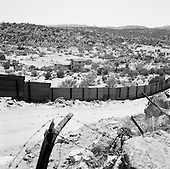 Jacumba, California<br /> USA<br /> August 20, 2007<br /> <br /> The border fence runs about 1 mile long in this small town on the US side of the US Mexican border. The border here is fenced and guarded, as a major US highway is not far away.