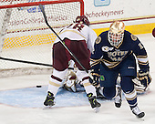 Sam Herr (ND - 12) - The visiting University of Notre Dame Fighting Irish defeated the Boston College Eagles 7-2 on Friday, March 14, 2014, in the first game of their Hockey East quarterfinals matchup at Kelley Rink in Conte Forum in Chestnut Hill, Massachusetts.