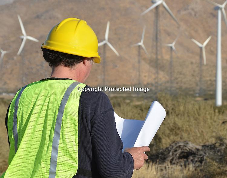 Stock photo Wind Turbine Engineer