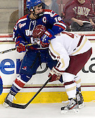 Riley Wetmore (UML - 16), Teddy Doherty (BC - 4) - The Boston College Eagles defeated the visiting University of Massachusetts Lowell River Hawks 6-3 on Sunday, October 28, 2012, at Kelley Rink in Conte Forum in Chestnut Hill, Massachusetts.