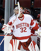 Adam Kraus (BU - 32) - The Boston University Terriers defeated the visiting University of Toronto Varsity Blues 9-3 on Saturday, October 2, 2010, at Agganis Arena in Boston, MA.