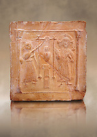 6th-7th Century v Christian Terracotta tiles depicting Christ changing Water into wine - Produced in Byzacena -  present day Tunisia. <br />