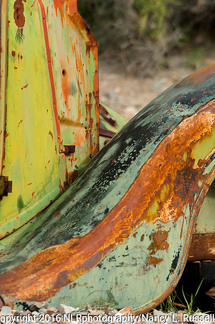 Old rusty truck in the canyon in Death Valley