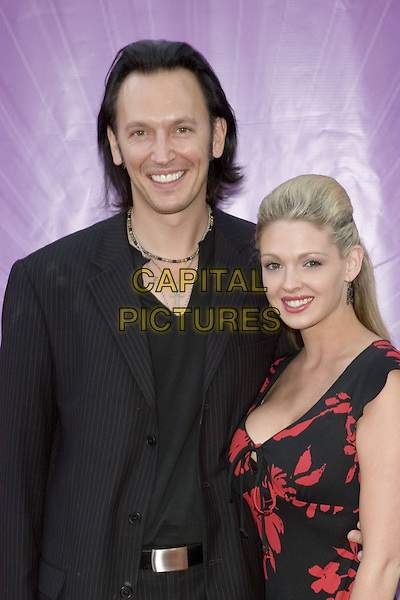 25 July 2005 - Los Angeles, California - Steve Valentine and guest.  2005 NBC Network All Star Celebration Arrivals held at the Century Club.  Photo Credit: Zach Lipp/AdMedia