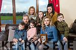 Front l-r Fiachra Flavin, Ray Flavin, Bronagh Flavin, Caoimhe Flavin, Aoife Flavin, Oisin Flavin with Trish's Sisters Marie Guerin and Sandra Breen