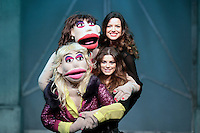 11/1/13 Caroline Morahan and Aoibhinn McGinnity at a photocall for Anglo the Musical which is being performed at the Olympia Theatre from January 10th to February 2nd. Picture:Arthur Carron/Collins