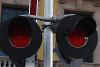 red railroad lights