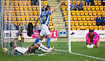 St Johnstone v Falkirk&hellip;23.07.16  McDiarmid Park, Perth. Betfred Cup<br />Joe Shaughnessy celebrates his goal<br />Picture by Graeme Hart.<br />Copyright Perthshire Picture Agency<br />Tel: 01738 623350  Mobile: 07990 594431
