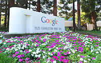 Sept. 6, 2011 - Mountain View, California - U.S. -  A sign in front of one of the many buildings at the Google world headquarters in Mountain View, California Monday September 5, 2011.  (Credit Image: Alan Greth/ZUMAPress.com).