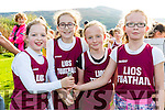 The Listowel Girls U10 relay team take gold in Cahersiveen at the County Championships pictured l-r; Niamh Daly, Orla McElligott, Maria Tritschler & Emma Neylon.