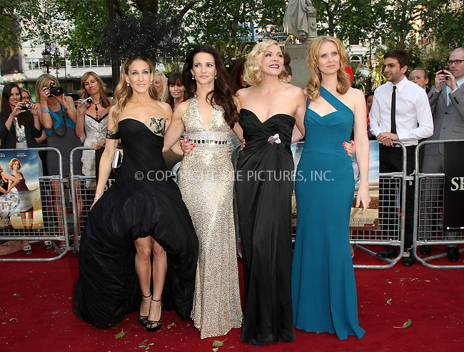 WWW.ACEPIXS.COM . . . . .  ..... . . . . US SALES ONLY . . . . .....May 27 2010, New York City....Sarah Jessica Parker, Kristin Davis, Kim Cattrall and Cynthia Nixon at the premiere of Sex and the City 2 on May 27 2010 in London....Please byline: FAMOUS-ACE PICTURES... . . . .  ....Ace Pictures, Inc:  ..Tel: (212) 243-8787..e-mail: info@acepixs.com..web: http://www.acepixs.com