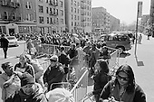 """New York, New York.April 24, 2009.USA..Feed The Children's """"Americans Feeding Americans Emergency Caravan"""" arrived in New York at 175th Street to supply a box of food and a box of personal items to people effected by the resent economic crisis. ..Nearly 1,000 families at this stop received items. Feed the Children recently has gave out food in Wilmington, Ohio and Elkhart Indian were as many as 6,000 families were given food at each site...Feed The Children and Joel and Victoria Osteen, working with local partner agencies Christ Alive Community Church and Church of the Incarnation, to provide a box of food and a box of personal care items to recipients. The boxes are designed to help supplement a family for up to one week."""