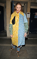 Lily Cole at the &quot;The Philanthropist&quot; theatre cast departures, Trafalgar Studios, Whitehall, London, England, UK, on Tuesday 18 April 2017.<br /> CAP/CAN<br /> &copy;CAN/Capital Pictures /MediaPunch ***NORTH AND SOUTH AMERICAS ONLY***