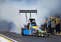 Mar. 15, 2013; Gainesville, FL, USA; NHRA top fuel dragster driver Sidnei Frigo during qualifying for the Gatornationals at Auto-Plus Raceway at Gainesville. Mandatory Credit: Mark J. Rebilas-