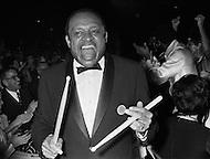 19 Jan 1969, Washington, DC, USA. Prominent jazz musician Lionel Hampton attends the pre-inaugural ball for President Nixon in Washington, DC.