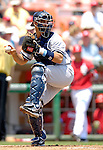 18 June 2006: Jorge Posada, catcher for the New York Yankees, in action against the Washington Nationals at RFK Stadium, in Washington, DC. The Nationals defeated the Yankees 3-2 in the third game of the interleague series...Mandatory Photo Credit: Ed Wolfstein Photo...
