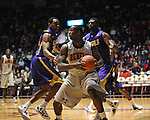 "Ole Miss' Murphy Holloway (31) vs. LSU's Malcolm White (5) at the C.M. ""Tad"" Smith Coliseum in Oxford, Miss. on Saturday, February 25, 2012. (AP Photo/Oxford Eagle, Bruce Newman).."