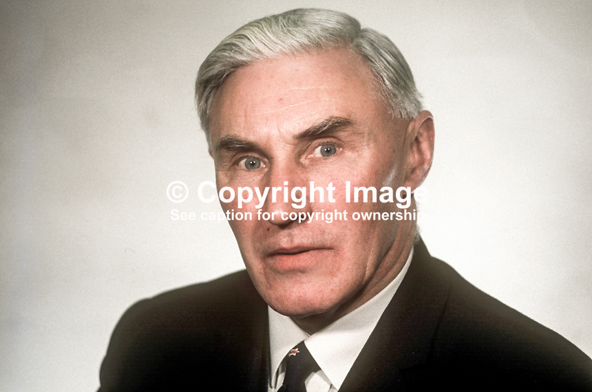 Herbert Whitten, MP, Ulster Unionist, N Ireland Parliament, Stormont, Belfast, February 1969, 196902000060a<br />