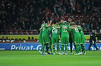 FUSSBALL   1. BUNDESLIGA  SAISON 2011/2012   11. Spieltag   29.10.2011 1.FSV Mainz 05 - SV Werder Bremen Teamkreis SV Werder Bremen vor dem Spiel