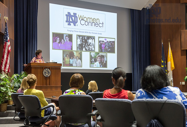 May 31, 2014; Dolly Duffy speaks at the ND Women Connect event, Reunion 2014. Photo by Matt Cashore/University of Notre Dame