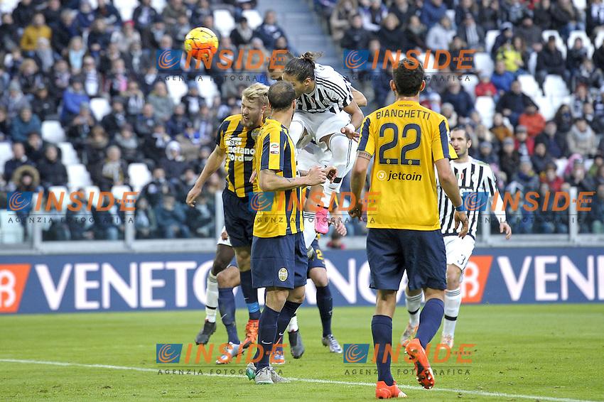 Leonardo Bonucci Juventus gol 2-0, goal celebration,<br /> Torino 06-01-2016, Juventus Stadium, Football Calcio 2015/2016 Serie A, Juventus - Verona, Foto Filippo Alfero/Insidefoto