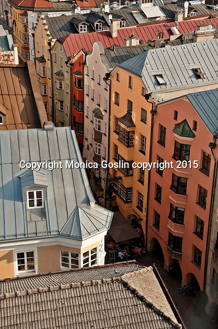 Looking down at the streets of Old Town from City Tower (Stadtturm)
