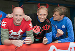 St Johnstone FC Supporting CHAS Devils Dash&hellip;.14.10.16<br />Pictured from left, Mike McClay CHAS Outdoor Events Co-Ordinator, Steven Anderson and Murray Davidson<br />Picture by Graeme Hart.<br />Copyright Perthshire Picture Agency<br />Tel: 01738 623350  Mobile: 07990 594431