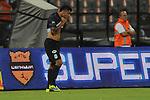 MEDELLÍN – COLOMBIA _ 28-01-2014 / En compromiso de vuelta de la SuperLiga Colombiana, Atlético Nacional, a pesar de vencer 1 – 0 Deportivo Cali, dejó escapar el primer título en disputa de 2014. El campeón fue Deportivo Cali tras vencer 4 – 3 en tanda de penales. / Jefferson Duque celebra el único tanto de Atlético Nacional.