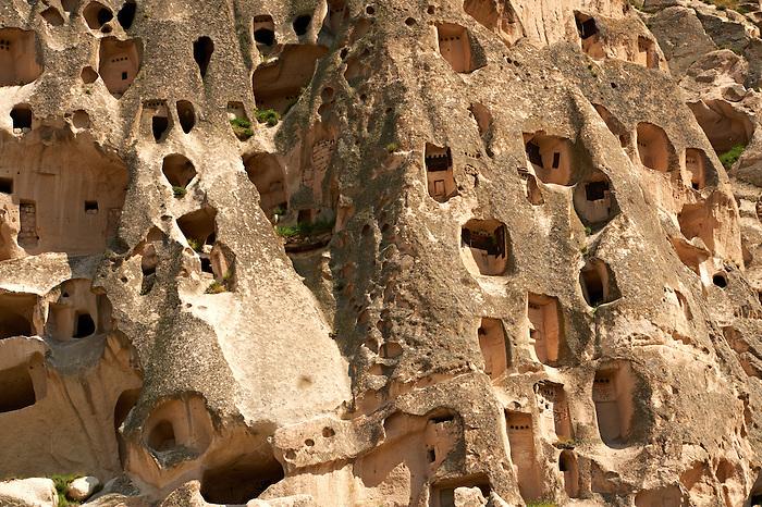 Rock houses of Uchisar, Cappadocia Turkey