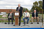 Motts Military Museum Director Warren Motts speaks during a rededication ceremony of the 9th Cavalry Monument at Motts Military Museum during the Gathering of Warriors reunion attended by Vietnam War Veterans of the 1st Squadron, 9th Cavalry, 1st Cavalry Divison.