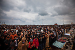 Protesters pray  in Banghazi on Feb. 25, 2011.