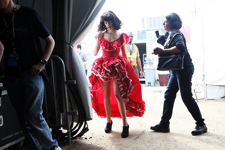 AUSTIN, TX - MARCH 16:  Kimbra backstage before her performance onstage at Fader Fort presented by Converse during SXSW on March 16, 2012 in Austin, Texas.  (Photo by Roger Kisby/Getty Images)
