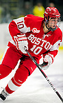 9 January 2011: Boston University Terrier forward Corey Trivino, a Junior from Toronto, Ontario, in action against the University of Vermont Catamounts at Gutterson Fieldhouse in Burlington, Vermont. The Terriers defeated the Catamounts 4-2 in Hockey East play. Mandatory Credit: Ed Wolfstein Photo