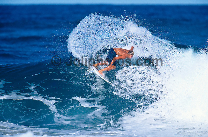 The late Sean Fanning (AUS) the brother of two times world surfing champion Mick Fanning (AUS)  surfing D-Bar, Tweed Heads, New South Wales, Australia.  Sean Fanning, and fellow passenger and good surfer Joel Green (AUS) , were tragically killed in a car accident in 1998 in Coolangatta. Mick Fanning  was 16 years of age at the time.. Photo: Joliphotos.com