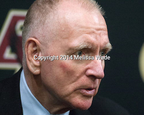 Red Berenson (Michigan - Head Coach) - The Boston College Eagles defeated the visiting University of Michigan Wolverines 5-1 (EN) on Saturday, December 13, 2014, at Kelley Rink in Conte Forum in Chestnut Hill, Massachusetts.