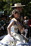 The Hispanic Parade in New York City. A couple representing Argentina in the Hispanic Parade in New York City.