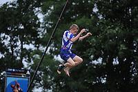 FIERLJEPPEN: IT HEIDENSKIP: 29-06-2016, 1e klasse wedstrijd fierleppen, afgelast wegens regen, Freark Kramer, ©foto Martin de Jong