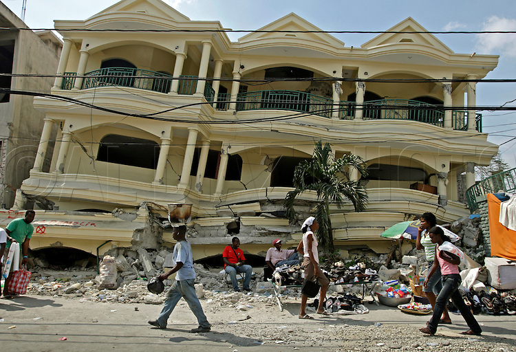 This building seen on February 27, remains untouched since it's destruction by Haiti's earthquake on January 12, 2010.