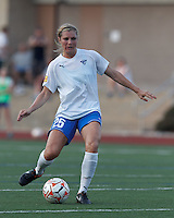 Boston Breakers defender Taryn Hemmings (25) passes the ball. In a Women's Premier Soccer League Elite (WPSL) match, the Boston Breakers defeated New England Mutiny, 4-2, at Dilboy Stadium on June 20, 2012.