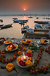 Varanasi is up river from the Kumbh Mela festival in Allahabad. After the Mela, some pilgrims move to Varanasi on the Ganges to make further devotions.